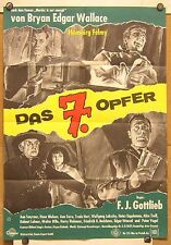 SIEBTE OPFER (Kinoplakat / Filmplakat '64) - BRYAN EDGAR WALLACE / H. FELMY