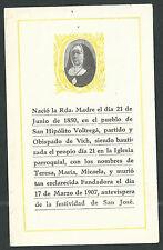 estampa antigua de la Madre Teresa andachtsbild santino holy card santini