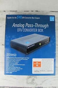 Digital Stream Analog Pass-Through DTV Converter Box & Remote in Box Open Box