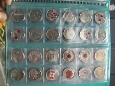 Commemorative Coins Canada 25 Cents Coins Set Of 87 Different Coins in Album.