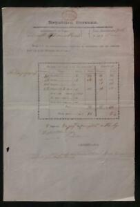 PERU official postal stampless document Lambayeque 1854 ship to Lima VAPOR red