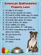 Staffordshire Bull Property Laws Magnet Personalized With Your Dog's Name #3