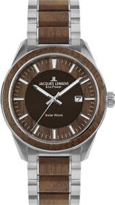 Jacques Lemans Armbanduhr Eco Power Solar Wood Holzuhr nachhaltig 1-2116H