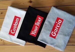 Supreme your custom last name box logo Tshirt Gray, White or Black(S-5XL)