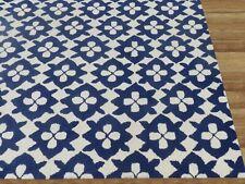 Diamond Basic Blue Color Hand Tufted Modern Style Woolen Area Rug