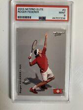 2003 Netpro Elite Roger Federer Rookie RC (#3) / 2000 PSA 9 MINT Low Pop Goat