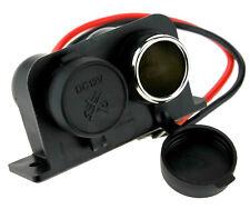 Car 12V Waterproof Double Cigar Cigarette Lighter Socket Charger Adaptor