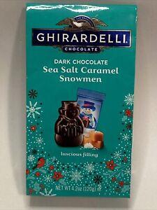 Ghirardelli Dark Chocolate Sea Salt Caramel Snowmen 4.2 Oz Bag Winter Candy