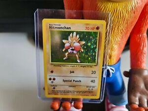 Pokemon Card Hitmonchan 7/102 Base Set 1999 RARE HOLO WOTC VGC