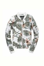 NEW RRP£64.99 WOMENS XL SIZE SUPERDRY LILLIE BOMBER COAT PALM ORCHID JACKET BNWT