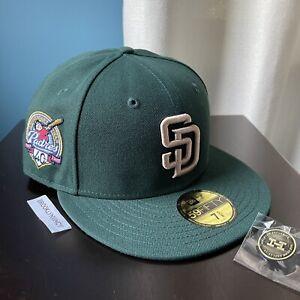 New Era Hat Club San Diego Padres sz 7 5/8 Exclusive Green Grey UV Myfitteds