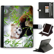 RED PANDA IPAD CASE 360 SWIVEL LEATHER COVER FOR APPLE IPAD WITH STAND FEATURE