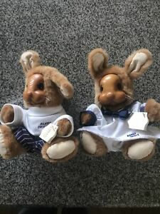 Raikes Original Bunny's Boy & GIrl New With Tags Easter Nautical Baby Wood Face