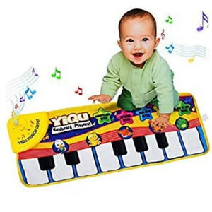 Musical Piano Mat Animal Sounds Sensory Touch Play Learn Kids Baby Toddler Toy