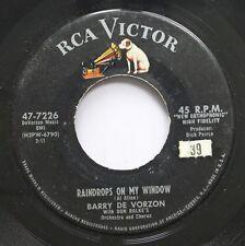 Hear! Teen 45 Barry De Vorzon - Raindrops On My Window / False Love On Rca Victo