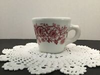 Vintage Caribe Puerto Rico USA Diner Coffee Cup Red Floral Tall