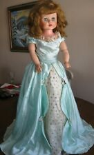 """Vintage Ae 251 30"""" Fashion Doll New Dress, Gold Shoes Pristine Condition"""