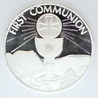 2020 First Communion 999 Silver Art Medal 1 oz Round Eucharist Christian Gift