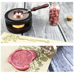 Wooden Wax Seal Stamp Warmer Melting Copper Spoon Stamp Melting Furnace Stove