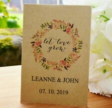 20 Wedding Personalised Seed Favours | Let Love Grow Seed Packets (with seeds)