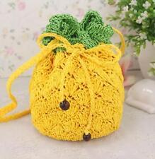 Pineapple Knitting Bags Women Girls Crossbody Bag Summer Beach Shoulder Bags
