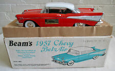 Boxed Jim Beam's RED1957 CHEVY BEL AIR Car Porcelain Decanter #JW023  Empty