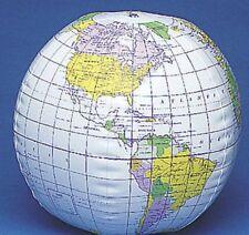 "Globe Inflatable, 10"" Vinyl~ For Social Studies or Pool summer fun"