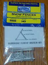 Builders In Scale HO #568 Snow Fences (Contains 2 Easy Build Fences) Light Cast
