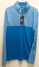 Under Armour UA Golf Outerwear Pullover Half Zip Light Blue Loose Longsleeve L