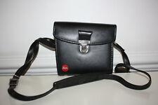 leica leitz hard padded black leather combination case