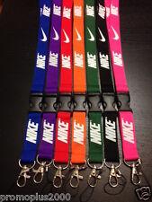 New! Nike Lanyard, Keychain, ID Badge Polyester,  Lot of 7 pcs. Free Shipping !!