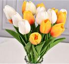 10Pcs Artificial PU Tulips Flowers Fake Bouquet Wedding Party Home Decoration US
