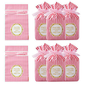30pcs Plastic Candy Drawstring Gift Bags Birthday Party Snack Favor 22~23X15cm