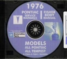 PONTIAC 1976 Bonneville, Catalina, GTO, Tempest, Fire Bird Shop & Body Manual CD