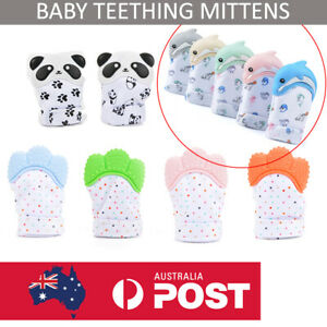 Silicone Teething Mitten Baby Teether Mitt Glove Safe BPA Free Chew Dummy Toy