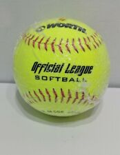 """Worth  00004000 Yellow 12"""" Official League Softball New Factory Sealed Free Shipping"""