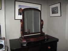 ANTIQUE VICTORIAN MAHOGANY BEDROOM BATHROOM SWING MIRROR 72 x 73 x 23cm
