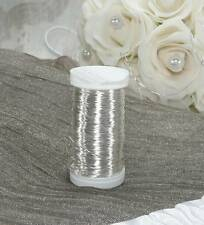 160 m Draht (0,07 €/m) feiner Silberdraht Dekodraht Myrtendraht 0,30 mm silber