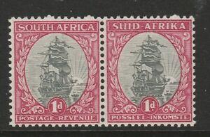 South Africa 1933-48 1d Grey & carmine perf 13½ x 14 Variety R 21/8 SG 56dw Mnh.