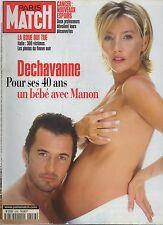 paris match n°2556 christophe  dechavanne manon cancer   / 1998