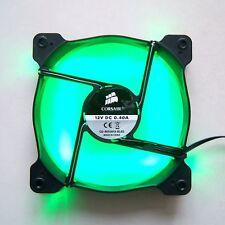 CORSAIR 120mm Case Fan Green LED 3 Pin 12025 Computer Cooling Quiet Cooler F58