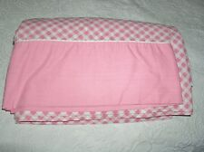 Vintage King Flat Sheet Cannon Monticello Pretty Pink Check Gingham Rare Size