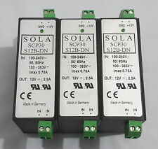 Sola SCP30 S12B-DN Power Supply 100-240V - lot of 3pcs *Free shipping worldwide*