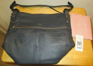 Radley London Dark Blue Kensal Hobo Bag with Storage Bag NWT