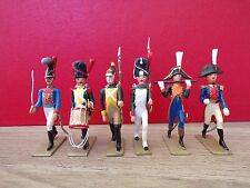 LUCOTTE D EXPOSITION : 6 SOLDATS DE DIFFERENTS REGIMENTS DE L EMPIRE