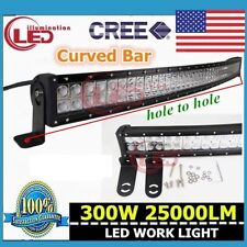 52'' Curved 300W Combo Work LED Light Bar Driving Offroad SUV Car 4WD 4X4 Boat