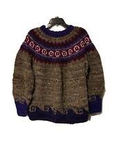 Naturaleza 100% Wool Crew Neck Sweater Size Large
