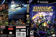 Starfox Adventures Replacement Game Cube Box Art Case Insert Cover Scan