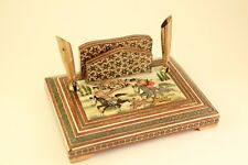 Khatam Inlaid Marquetry Persian Office Art Painting Pens & Business Card Holder