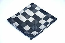 Lord R Colton Masterworks Pocket Square - Black Gray Uprising - Silk $75 New